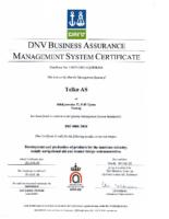 Telko ISO 9001:2008 Certificate