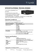 TECDIS 2138 B DC-version